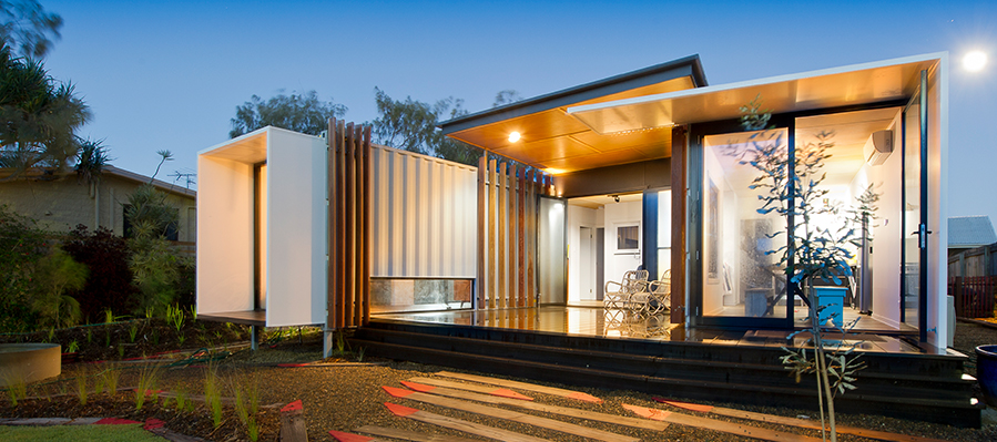 Image of a Shipping Container Building Design - Part Office