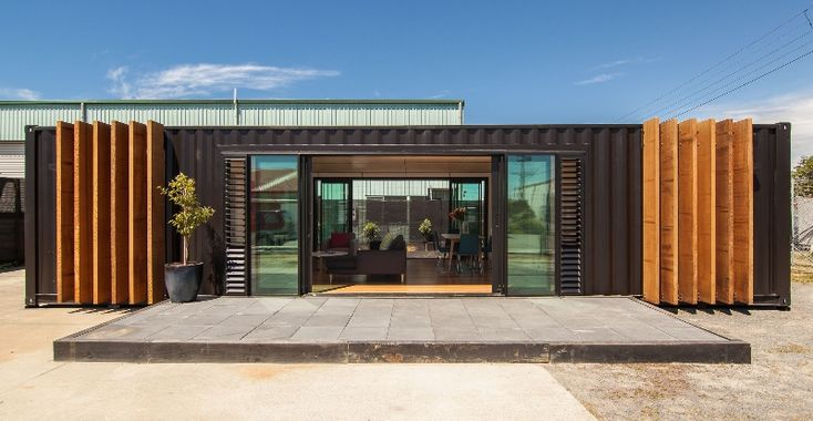 Image of Converted Shipping Container Into Modern House Design