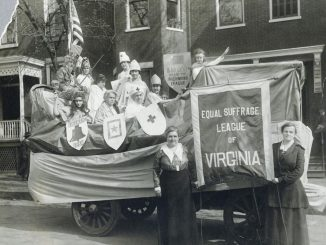 Image Showing An Antique Image of Equal Suffrage League of Virginia