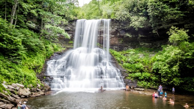Image Showing A Beautiful View of Water Falls, in East Virginia