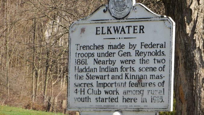 Image showing a board which denoted about elk water