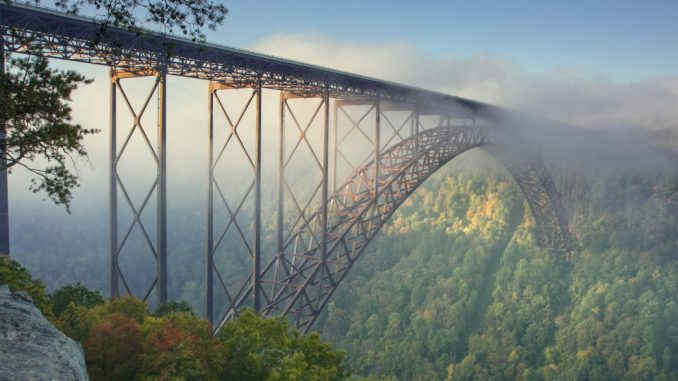 Image Showing The New River Gorge Bridge